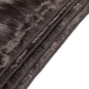 Image 5 - Ms Lula Extension indienne non remy lisse, longue trame de cheveux, 3/4 humains, longue couleur naturelle, 10 à 40 pouces, lots de 1/100%