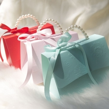 RMTPT المحمولة حفل زفاف لصالح صناديق الشوكولاته علاج الحلوى صناديق مع شرائط لحفل الزفاف الزفاف دش استحمام الطفل عيد ميلاد