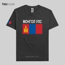 Mongólia camisa masculina t camisas nação equipe tshirt 100% algodão t-shirts roupas país sporting mng mongol