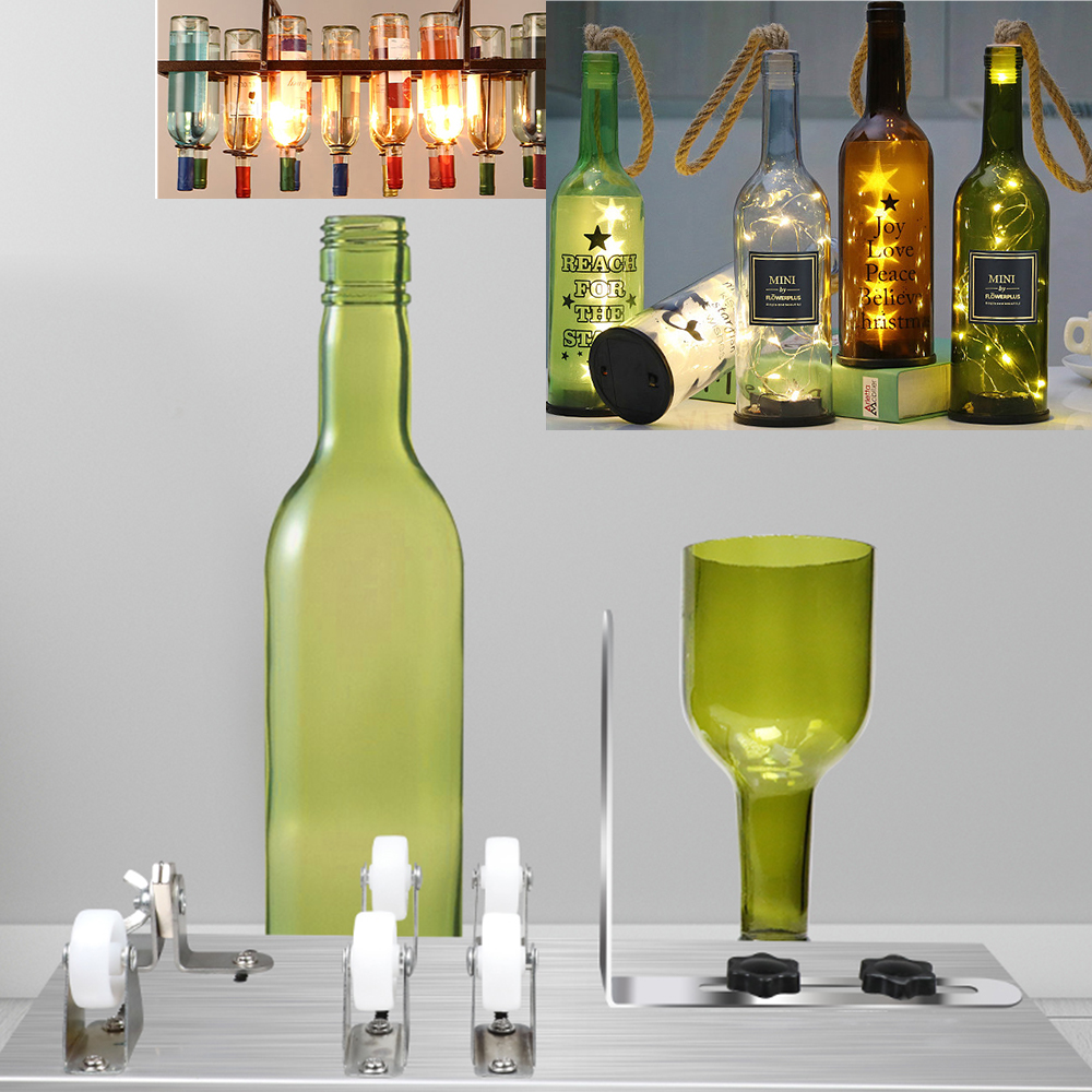 3-10mm Glass Bottle Cutter DIY Glass Cutting Machine Metal Pad Bottle Holder Square And Round Wine Beer Glass Sculptures Cutter