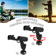 MagiDeal Marine 2 Pcs Rotatable Nylon Fishing Rod Holder Mount Bracket for Kayak Canoe Flatable Fishing Boat Yacht Accessories