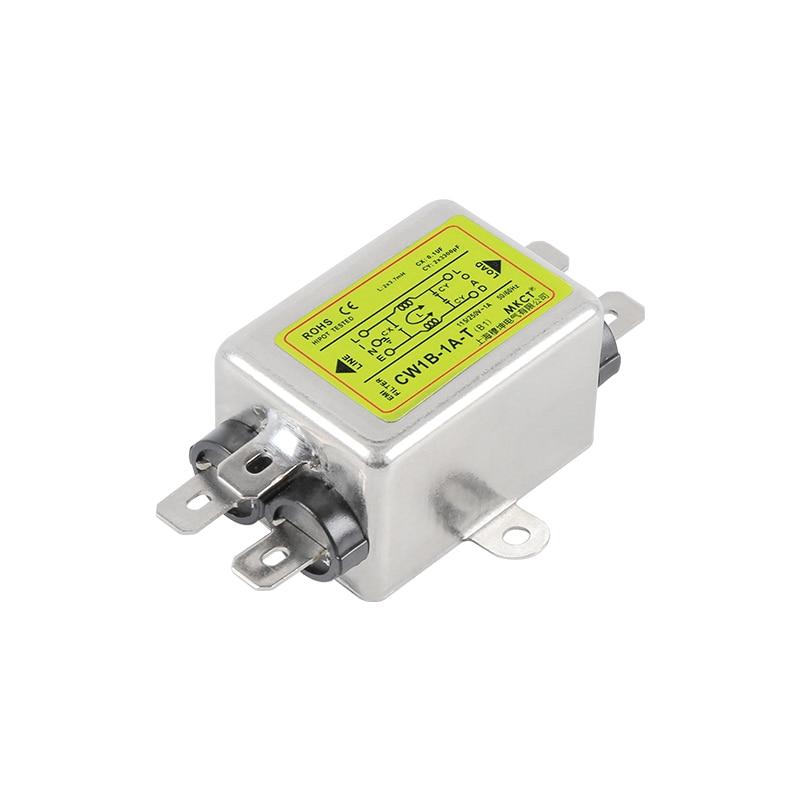 Power Supply Filter Single-Phase AC EMI Purification Anti-Jamming 220V CW1B-T(B1)1A 3A 6A 10A15A