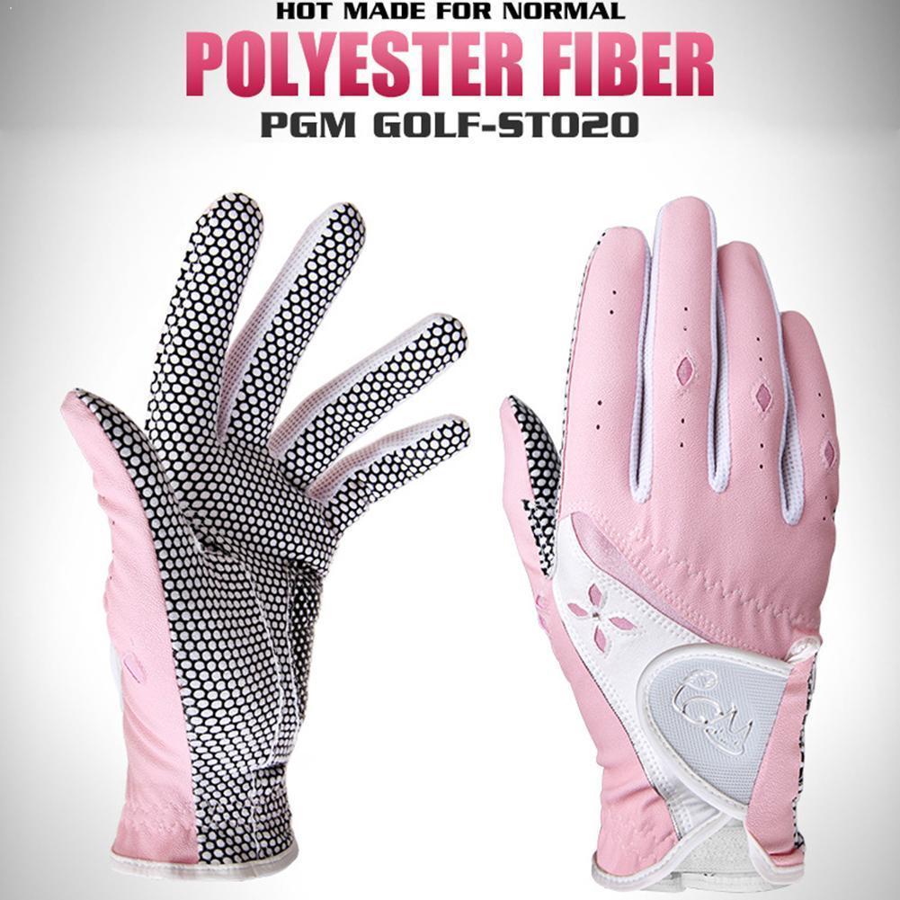 Luvas para Mulheres Luvas de Golfe da Mão Esquerda e Mão Esportes ao ar Luvas de Golfe Direita Senhoras Livre Respirável Não-deslizamento E4t6 1 Par