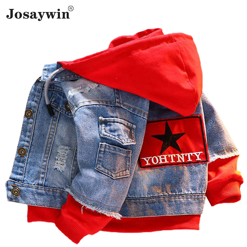 Children Clothing Denim Jacket for Boys Kids Autumn Long Sleeve jeans Baby Coat for Girls Patchwork Hoodies Sport  Outerwear