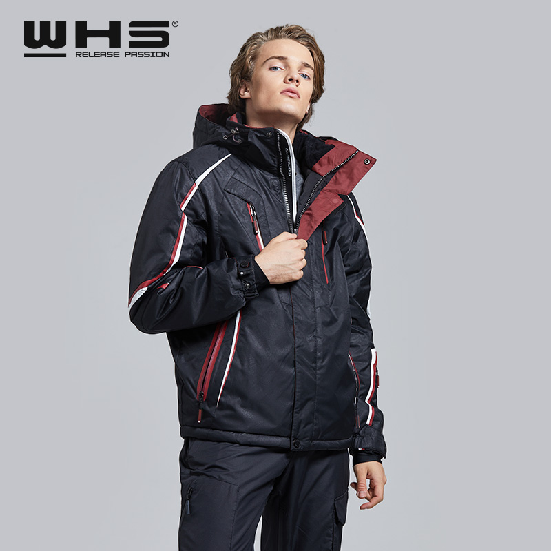 WHS Hot Sale Ski Jackets Men Windproof Warm Coat  Male Waterproof  Snowboard Jacket Teenagers Outdoor Sport  Clothing Winter