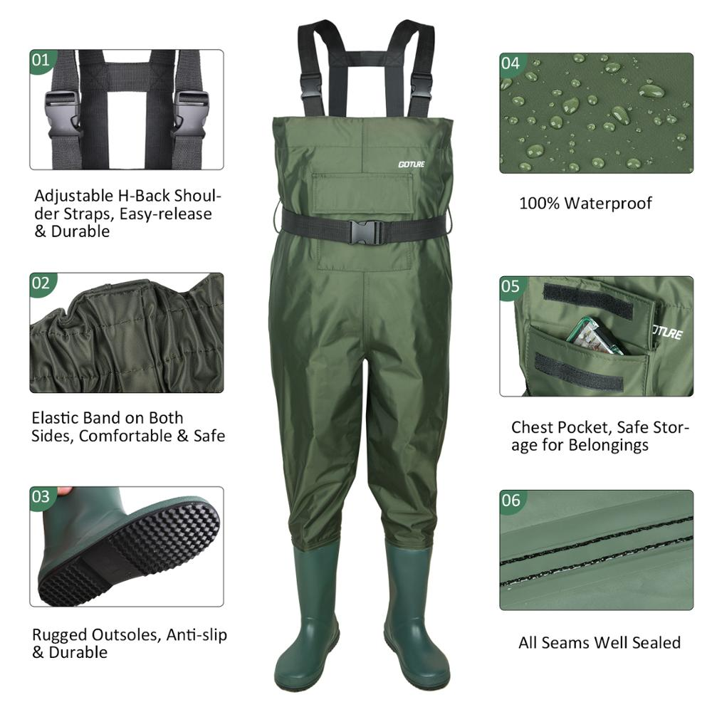 Goture Kids Chest Waders With Boot foot  2