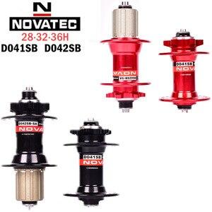 NOVATEC D041SB D042SB disc brake hub MTB mountain bike hub bearing bicycle hub 28 32 36 hole red and black disc brake hub