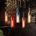 Винтажный подвесной светильник в виде пивной бутылки  стеклянный подвесной светильник  лофт  светодиодный светильник для бара  ресторана  С...
