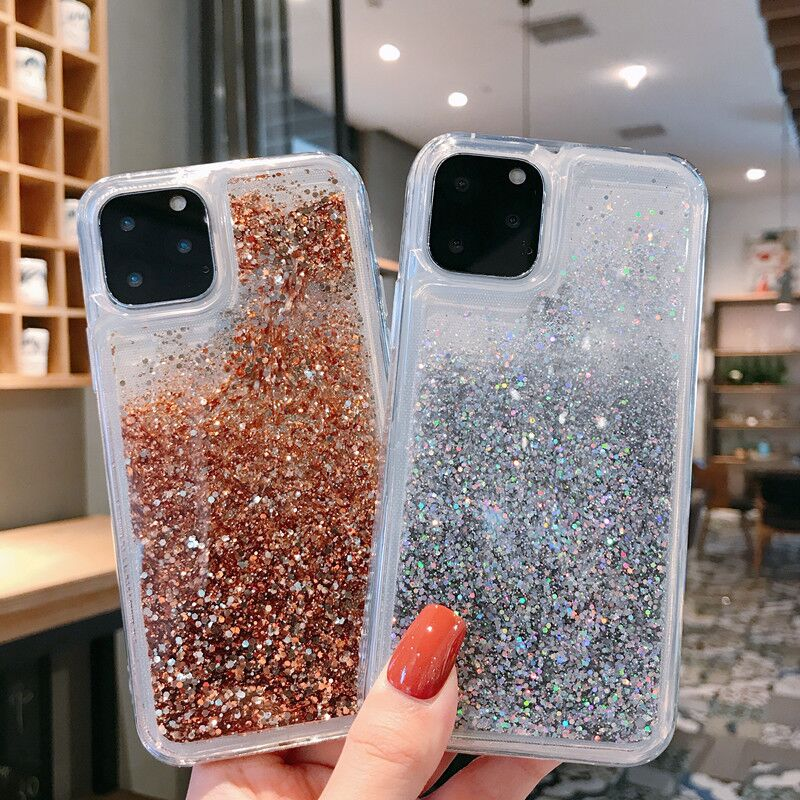 cases of phone accessories for samsung A50 A70 s8 s9 s10 plus s10e S10Lite back cover A40 A20 Anti fall Liquid quicksand powder