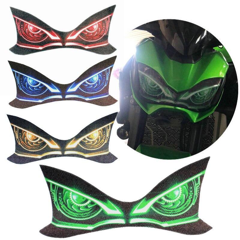 Для KAWASAKI Z900 Z 900 2017 2018 2019 2020 Мотоцикл 3D передний обтекатель головной светильник наклейка на голову защитный светильник