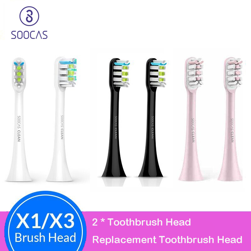 Soocas X3U X3 X5 Toothbrush Heads For Xiaomi Mijia X3U V1 Tooth Brush Head Original Sonic Electric Replacement Tooth Brush Heads