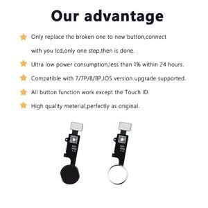 Image 5 - 10 adet 3rd nesil evrensel ev düğmesi iPhone 7 7 artı 8 8 artı flex kablo geri sıradan ev düğme dönüş fonksiyonu