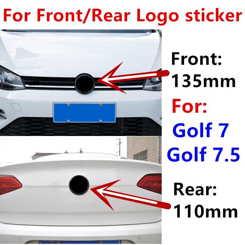 135 мм 110 мм Автомобильный передний Гриль значок наклейка Задняя Крышка багажника эмблема логотип крышка Стайлинг Аксессуары для Golf 7 Golf 7,5 гл...