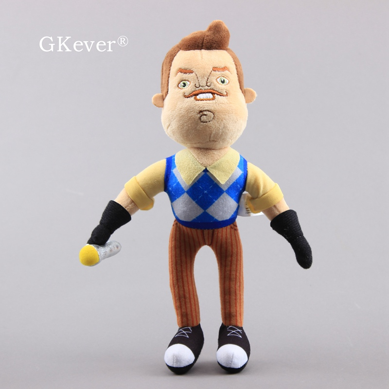 30cm Hello Neighbor Plush Toy Flashlight Neighbor Soft Stuffed Doll Game Figure Kids Gift 12