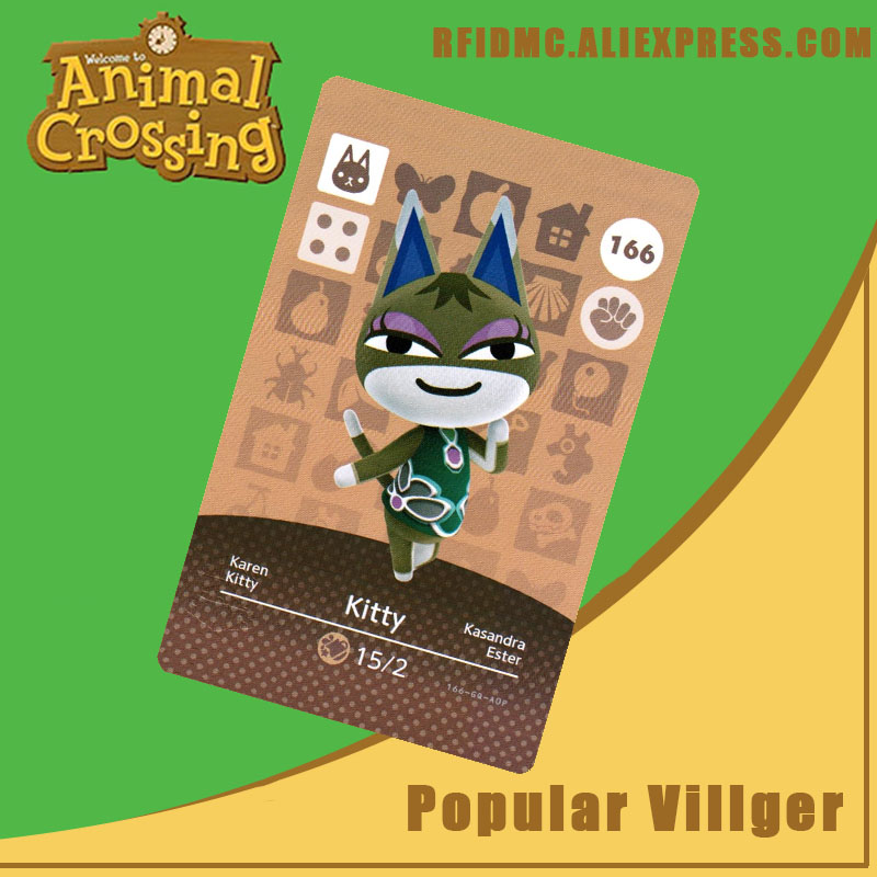 166 Kitty Animal Crossing Card Amiibo For New Horizons