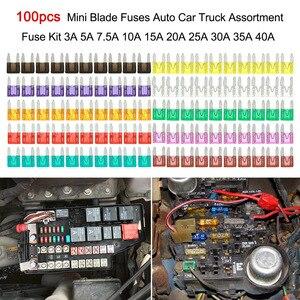50/100 pçs fusível do carro conjunto kit para dacia duster logan sandero stepway lodgy mcv 2