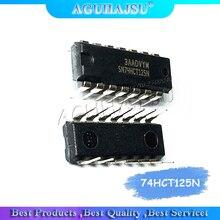 10 unids/lote 74HCT125N SN74HCT125N 74HCT125 DIP 14 chip de búfer/controlador de línea de buena calidad
