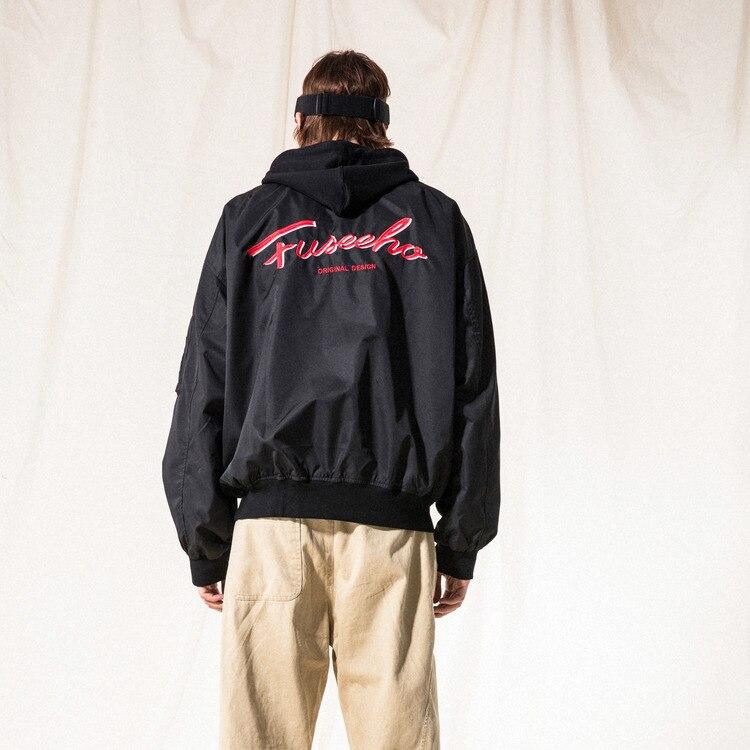 Vertical Ze produit 18aw tendances nationales lettré brodé à capuche veste hommes coupe ample jeunesse hommes Baseball Jersey manteau Fa