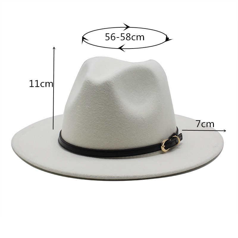 17 ألوان فيدورا قبعة الرجال النساء تقليد الصوف الشتاء النساء قبعة الرجال قمة الموضة الأسود الجاز قبعة Fedoras مصلى Sombrero