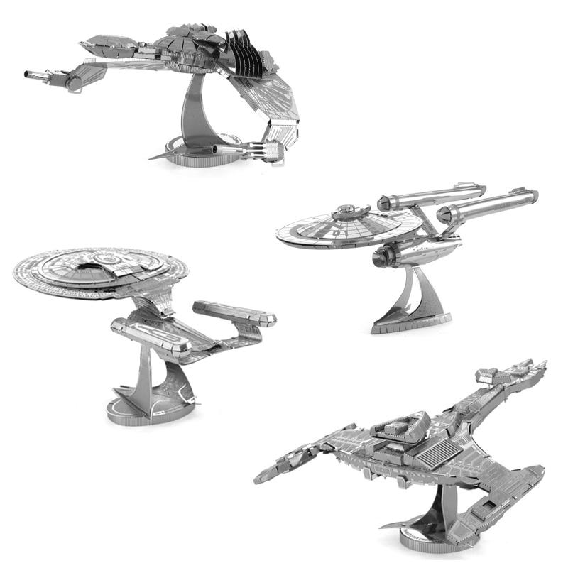 Enterprise Starship 3D Metal Puzzle Model Kits DIY Laser Cut Assemble Jigsaw Toy Desktop Decoration GIFT For Adult Children