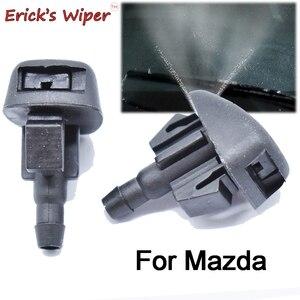 Erick est D'essuie-Glace 2 Pièces D'essuie-glace Avant Buse de Jet de Nettoyage Pour Mazda 3 BL 2008 - 2013 OE # L206-67-510
