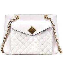 JUILE Luxury Women Designer brand Handbag Lady Messenger bag Ladies shell shoulder Bag High Quality pu Lingge Chain Female Bags