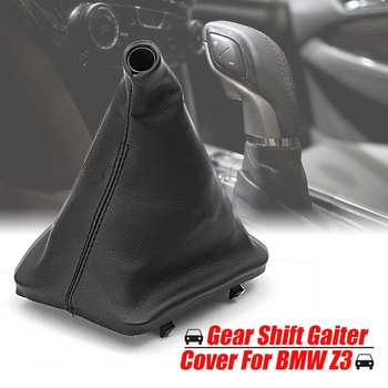 Car Leather Gear Shift Knob Gaiter Boot Cover For BMW E34 1988-1995 E36 1991-1998 E46 1999-2005 Z3 1995-2001 image