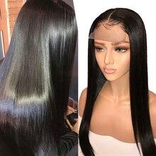 Сапфировые волосы 4*4, парики из натуральных волос на шнурке, предварительно выщипанные волосы, бразильские волосы remy, парик на шнурке с детскими волосами, натуральный цвет