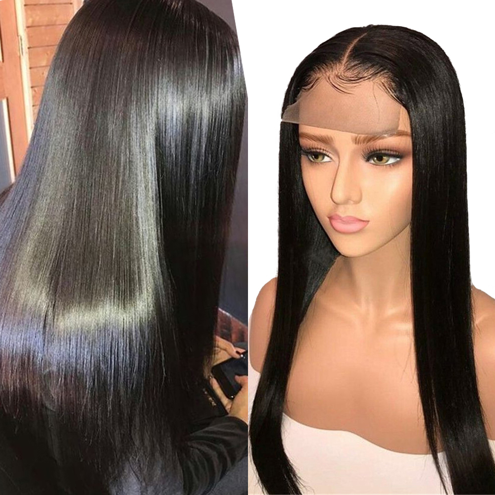 Sapphire Hair 4*4 Lace Closure Human Hair Wigs Pre Plucked Hairline Brazilian Remy Hair Lace Wig With Baby Hair Natural Color
