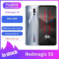 In Stock Nubia Red Magic 5S Gaming Mobile Phone 6.65 inch 144Hz AMOLED Snapdragon 865 Wi Fi 6 4500mAh 64MP Camera
