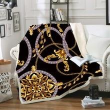 Manta de tiro con forma hueca de impresión de Estilo Vintage suave manta de lana para camas sofá colchas de felpa cubierta de hoja de invierno decoración del hogar