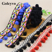 1Meter Colorful Crochet Tassels Pompom Lace Trims Skirt Colthing DIY Sewing Crafts