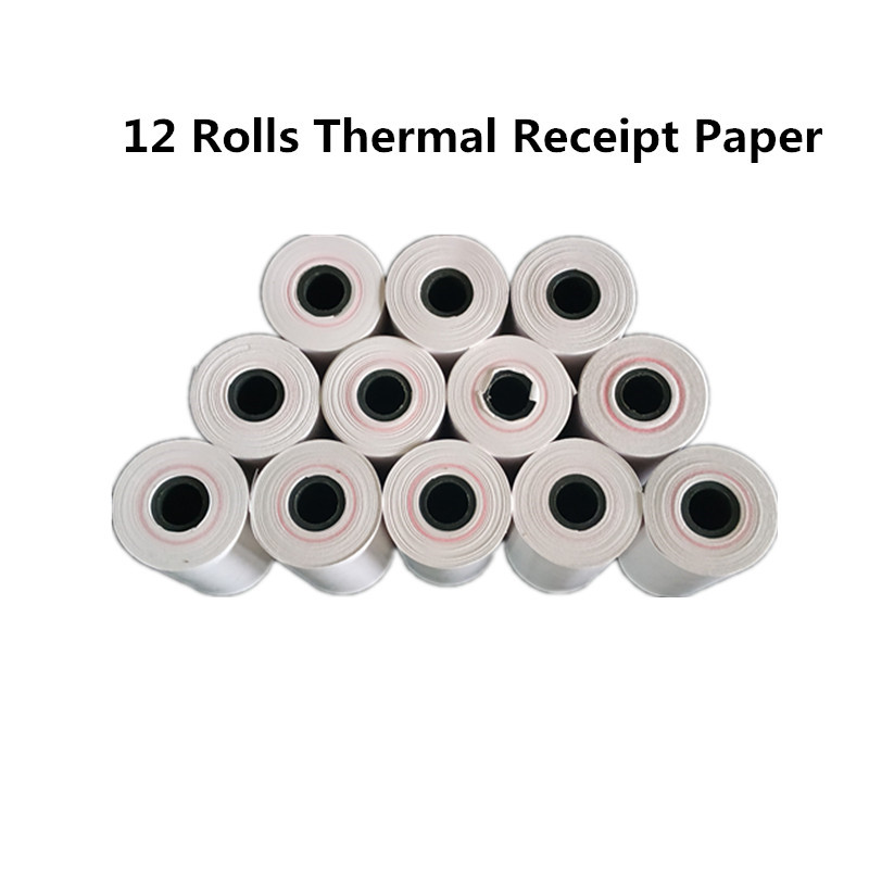 12 rolls high quality thermal paper