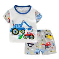 Saileroad crianças máquina escavadora pijamas para meninos novo verão algodão pijamas conjunto crianças pijamas de manga curta casa wear pijamas ternos