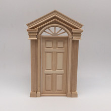 1/12 Scale Miniature Dollhouse Door With Steepletop Model Kit(China)