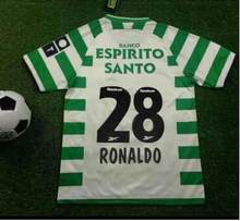 2003 2004 Retro Sportting Lisbon club t shirt Camiseta Sporting Club de Portugal Lion fans T-shirt Ronaldo Figo camisetas hombre
