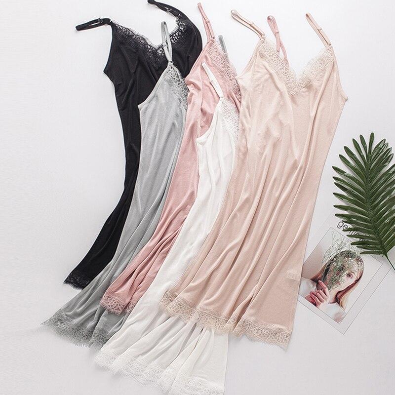 Женское нижнее белье из 100% натурального шелка, сексуальное нижнее белье для дома, летнее платье для сна с открытой спиной, цвет белый, черный