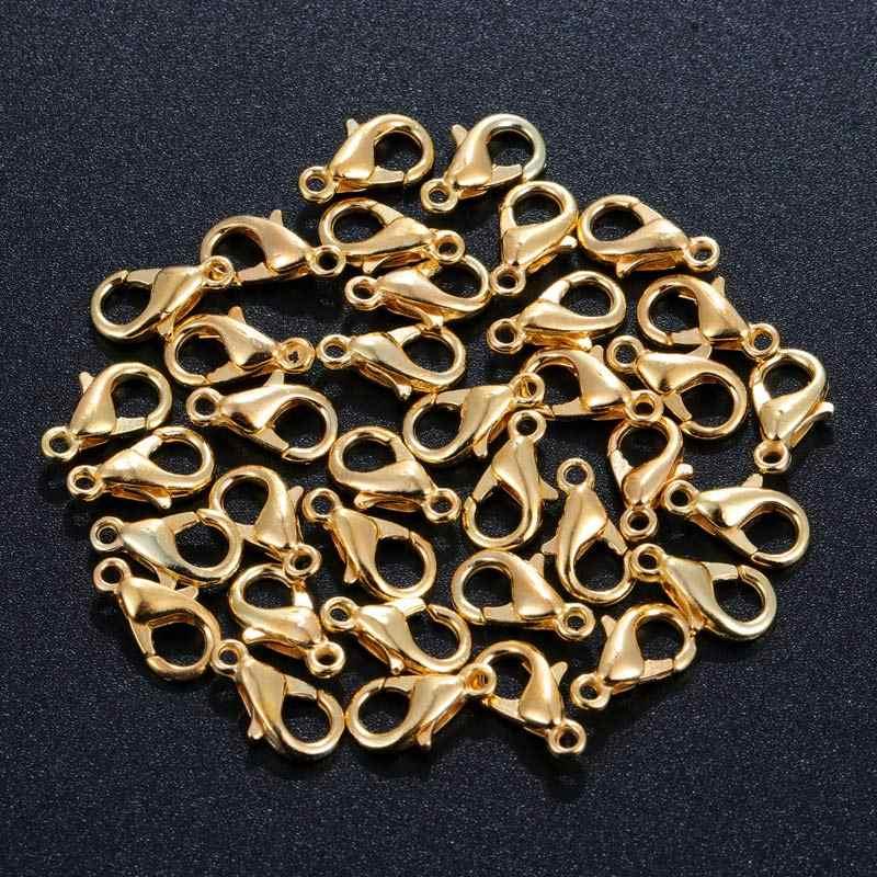 100 pièces fermoirs de homard pour Bracelets colliers crochets fermeture de chaîne résultats accessoires pour accessoires de fabrication de bijoux
