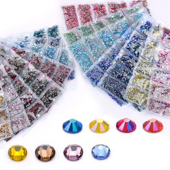 AAA SS6-SS30 Mix rozmiar 1200 sztuk partia poprawka Rhinestone Crystal Glass wysokiej jakości kryształy i kamienie na ubrania DIY dżetów tanie i dobre opinie QIAO Luźne dżety strasy Do przytwierdzenia ROUND SS6 SS10 SS16 SS20 SS30 Szkło flatback buty DO ODZIEŻY Bags Tak ( 50 sztuk)