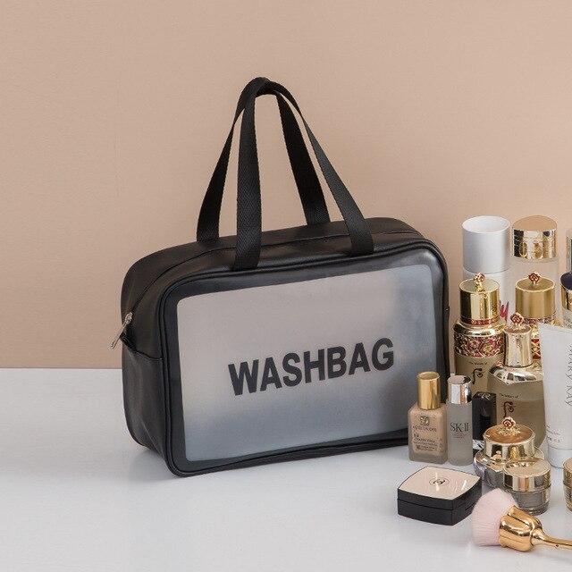 PVC Transparent Waterproof Cosmetic Bag for Women Large Capacity Portable Travel Scrub Toilet Makeup Bag Dressing Storage Bag 4