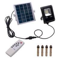 10W 4500LM IP65 20 LED de Luz Branca À Prova D' Água LED Paisagem Lâmpadas Do Gramado Do Jardim Ao Ar Livre Luz De Inundação Solar com controle remoto|Lâmpadas solares| |  -