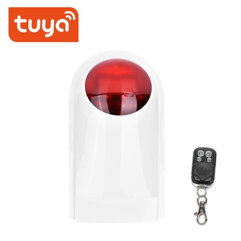 WiFi Tuya Alarm Siren Sensor 130DB Sound Wireless  Smart Life Home Security Systems Alexa Google IFTTT
