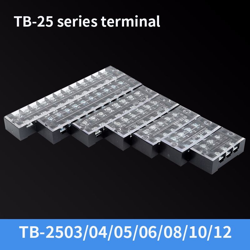 600V 15A 8 Position Barrier Strip Fixed Terminal Block Wire Connector TB 1508