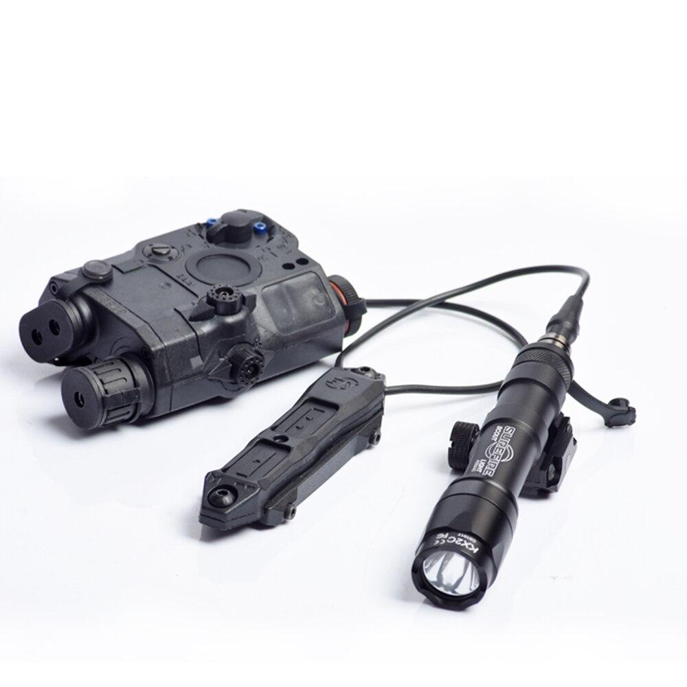 WADSN Softair тактическая кнопка с двойным переключателем для PEQ-15 PEQ-16A peq Airsoft armas DBAL 2 оружейный светильник