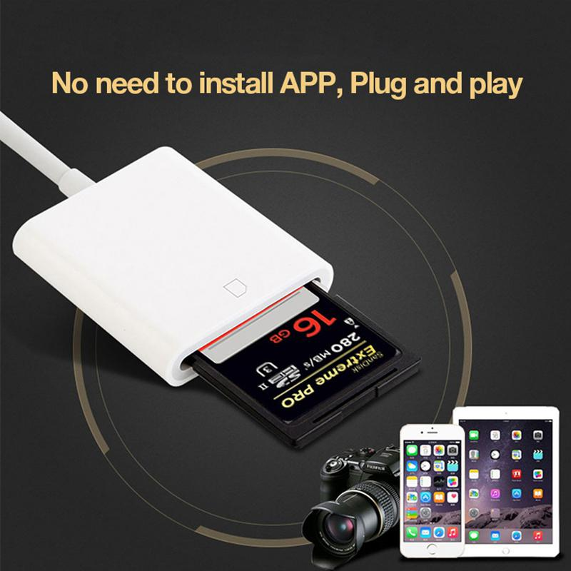 Usb Card Reader For Sd To USB Cable For IPhone Smart Camera Card Readers Adapter For Iphone Ipod Apple Memory Cards Use