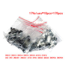 Free Shipping SOT-23 SMD Transistor Kit Set,18 value each 20 a total of 360pcs