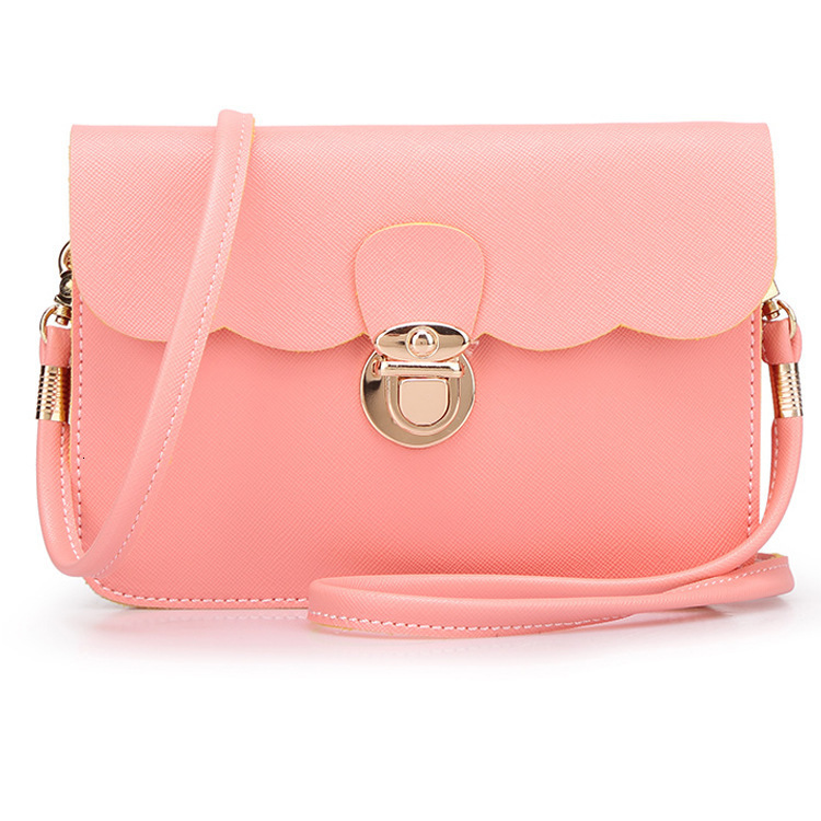 Mini Flap Leather Purses And Handbags Double Layer Clutches Women Shoulder Sling Bag