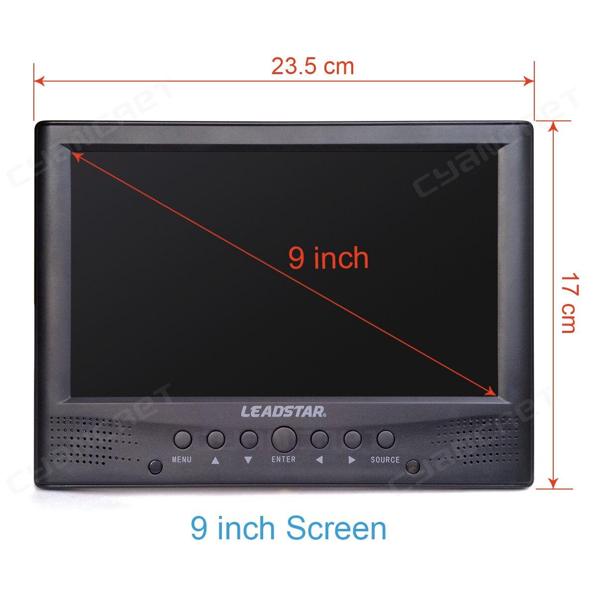 LEADSTAR DVB-T2 Портативный ТВ ATSC tdt 9 дюймов цифровой и аналоговый ТВ передний динамик мини маленький автомобиль ТВ Поддержка H.265 AC3