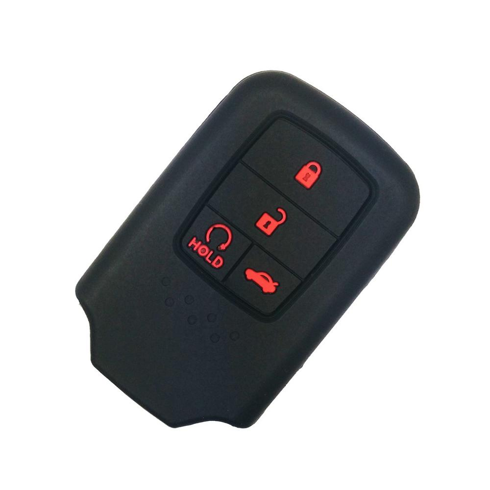 Coolbestda Silicone Rose Smart Car Key Case Skin Jacket Fob for Honda Accord Civic Fit Freed Pilot