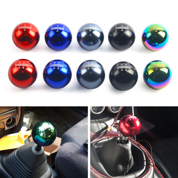 цена на MUGEN 5 speed 6 Speed Universal Neo Chrome Manual Automatic Spherical Round 50MM Gear Shift Knob For Honda/TOYOTA/MAZDA GSK04